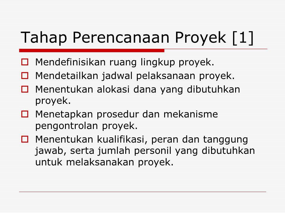 Tahap Perencanaan Proyek [1]